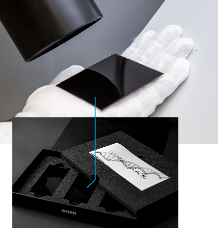 collage of black coating measurement and High Jetness Toolbox